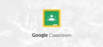 Logotipo de Google Classroom en un fondo de misión de Classcraft