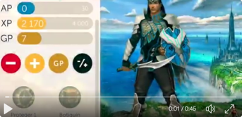 Video thumbnail of a classcraft student character dashboard