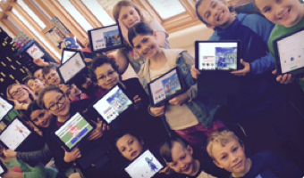 Group of students with their laptops showing Classcraft